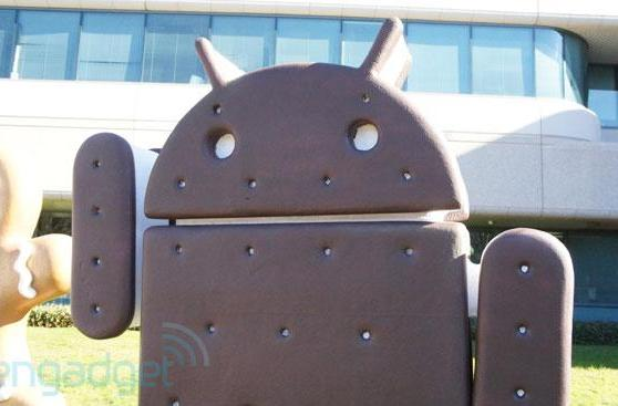 Which devices have been updated to Ice Cream Sandwich?