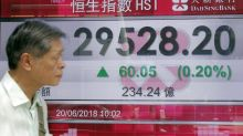 Global stocks rise, unfazed by US-China tensions