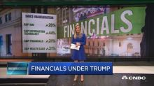 Financials seeing Trump effect since inauguration