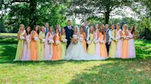 Bride can't narrow down her closest friends so chooses all 15 to be bridesmaids at her wedding