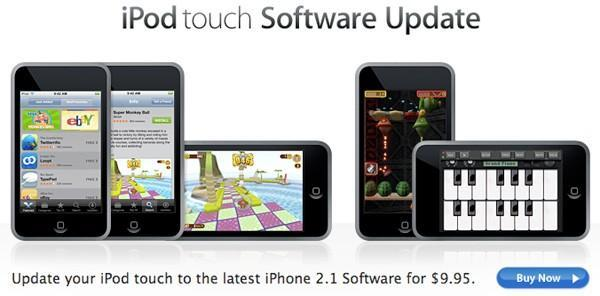 iPod touch 2.1 firmware update now available