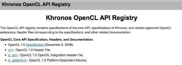OpenCL 1.0 spec released, GPUs everywhere to get a workout