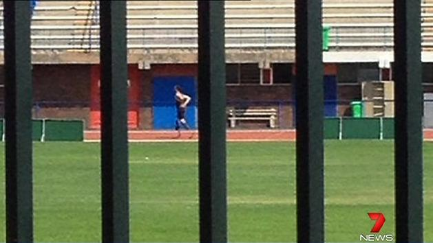 Pistorius back on the track