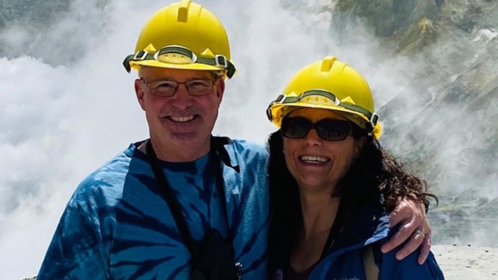 Couple's chilling photo minutes before deadly volcano eruption
