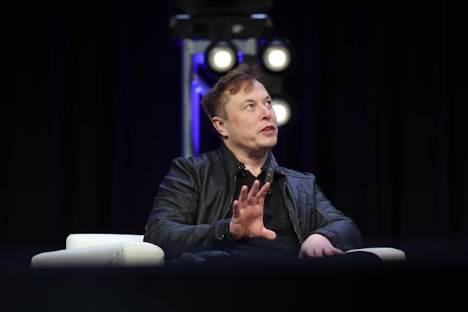 WASHINGTON, DC - MARCH 09: Elon Musk, founder and chief engineer of SpaceX speaks at the 2020 Satellite Conference and Exhibition March 9, 2020 in Washington, DC. Musk answered a range of questions relating to SpaceX projects during his appearance at the conference. (Photo by Win McNamee/Getty Images)