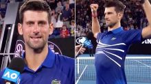 Djokovic sends funny message to next opponent after gruelling win