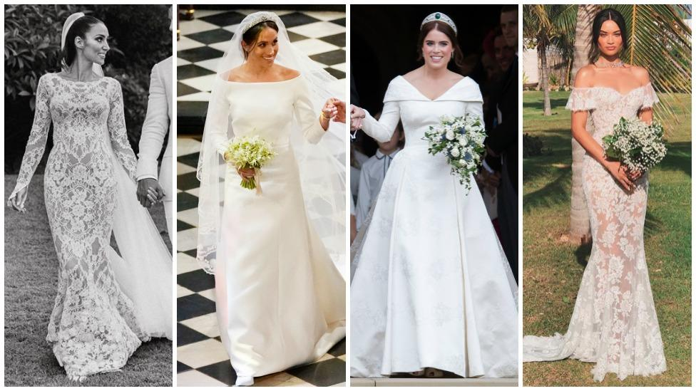 Flipboard The Most Beautiful Celebrity Wedding Dresses Of 2018