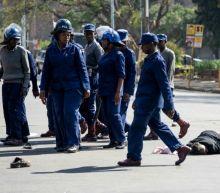 Zimbabwe police beat protesters defying regime 'worse than Mugabe'