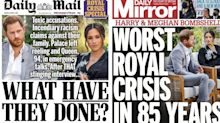 How the UK front pages reacted to Harry and Meghan's 'bombshell' interview