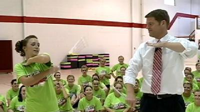 Sports Guy Tries Hand At Baton Twirling