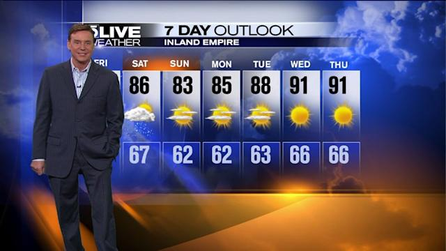 SoCal Weekend Forecast: Cooler Temperatures, Drier