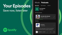 Spotify users can save individual podcast episodes to their libraries