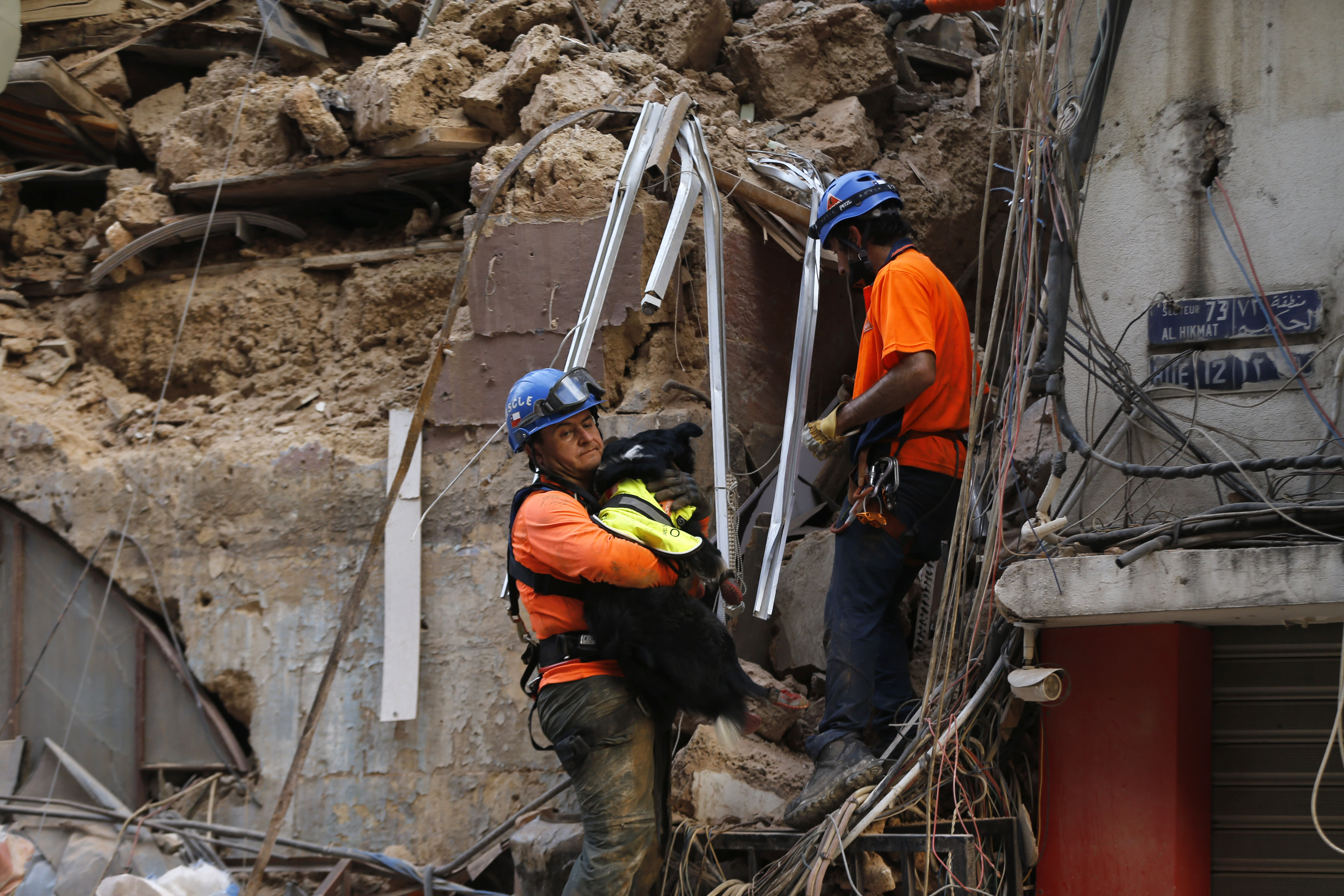 Rescuers search Beirut rubble for second day after pulse detected