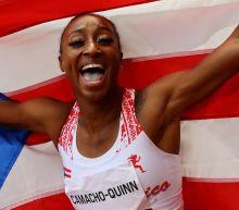 Olympics-Athletics-Camacho-Quinn dazzles in 100m hurdles gold, Tentoglou grabs long jump title