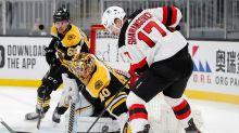 New Jersey Devils blank Bruins, deny Tuukka Rask his 300th career victory