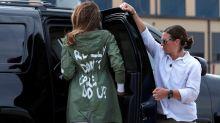 So erklärt Donald Trump die Jacke seiner Frau