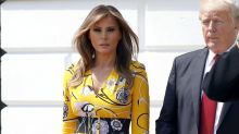 Melania Trump Greets Indian Prime Minister Wearing Bright Yellow Pucci