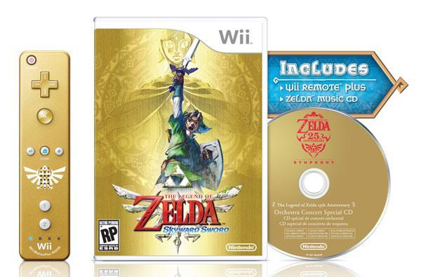 Nintendo's Legend of Zelda: Skyward Sword and golden Wiimote headed for November 20th release