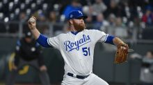 Royals pitcher takes the wheel after team bus hit by large chunk of ice