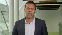 ABC reporter Elias Clure accidentally drops F-bomb live on air