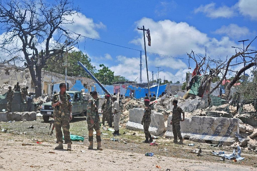 The UN report criticized the Somali government for failing to pay soldiers' salaries, which led to withdrawals from areas in the south and center of the country that allowed Shabaab forces to return (AFP Photo/Mohamed Abdiwahab)