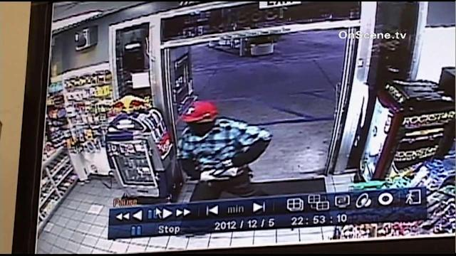 Garden Grove gas station robbery caught on tape