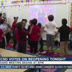CCSD votes on reopening plan tonight