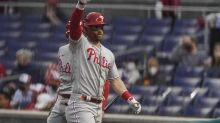 Heckled Harper homers, Realmuto exits early, Phils top Nats