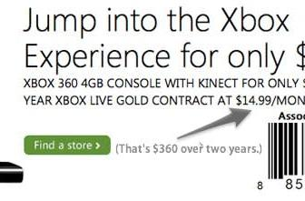 $99 Xbox 360 and Kinect bundle rolling out to Best Buy and GameStop this month