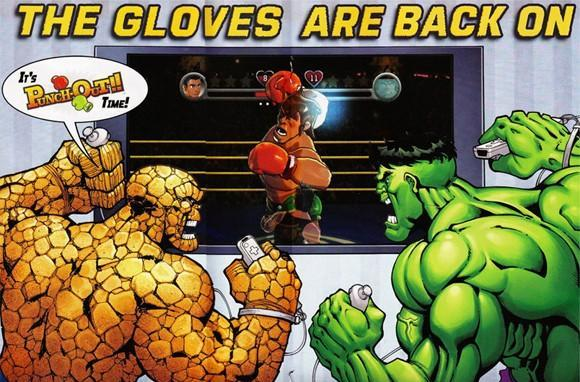Super heroes duke it out in Punch-Out!!
