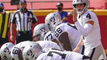 Status of entire Raiders' offensive line in question for Bucs game