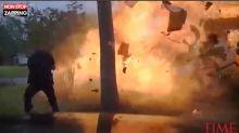 États-Unis : Un policier évite de peu l'explosion d'une maison (Vidéo)