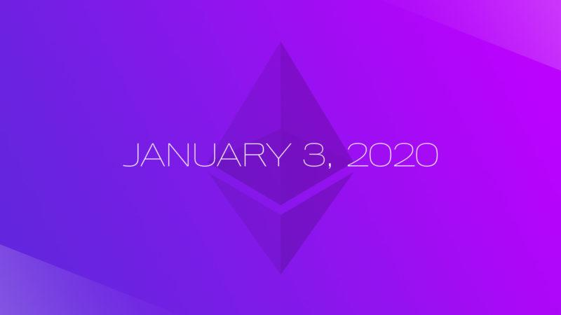 Ethereum 2.0 Phase 0 set to launch on 3rd January 2020