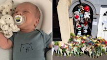 Newborn baby dies after BMW ploughs into his pram