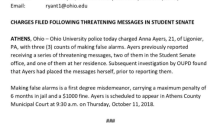 Ohio University student charged with making 'false alarms' after claiming she received homophobic death threats