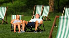 Britain bakes in the heat of the hottest day in April since 1949