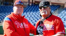 Hulk Hogan appears at Phillies camp, says he wants to leg drop Vince McMahon