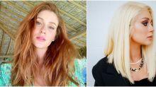 Marina Ruy Barbosa abandona o ruivo e surge com o cabelo platinado: 'Finalmente loira'