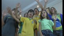 Six-fingered family support Brazil in World Cup