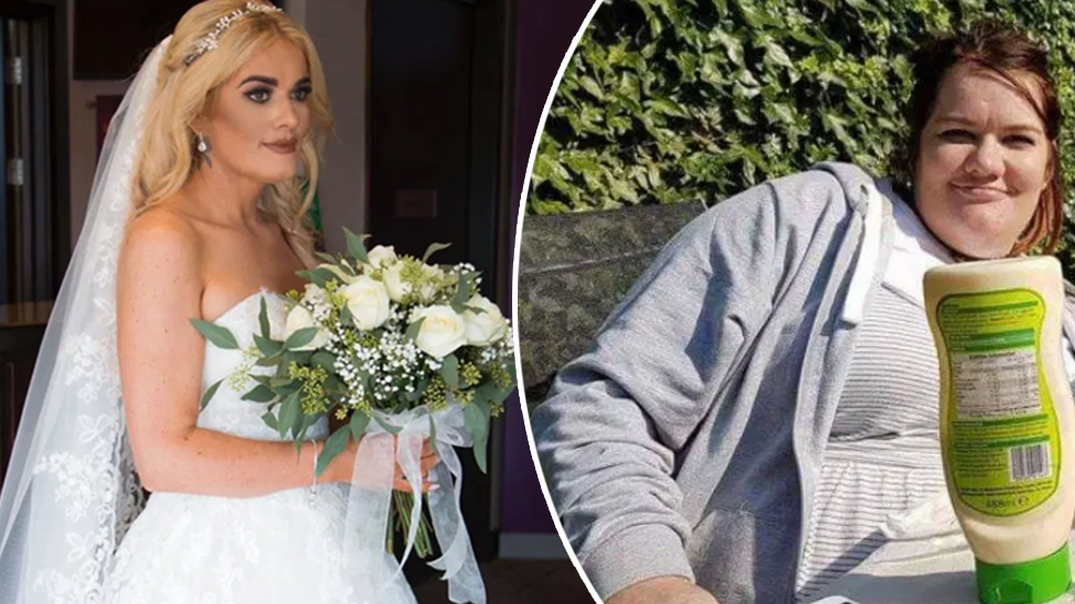 Bride's incredible 50kg weight loss to fit into dream wedding dress
