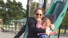 Mom Shares Shocking Picture of the Moment Her Baby Fractures Leg Going Down Slide to Warn Others