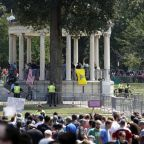 Boston 'free speech' rally abandoned by right-wing demonstrators outnumbered by 15,000 counter-protesters