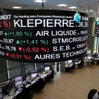 European shares suffer as trade jitters, weak data weigh
