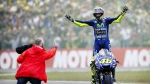 Rossi king at Dutch MotoGP, Vinales crashes out