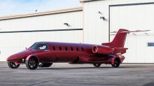 The Learmousine, a 42-foot jet turned into a street-legal limo, is for sale