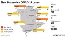 N.B. COVID-19 roundup: Campbellton region 'on verge' of return to red phase after new cases