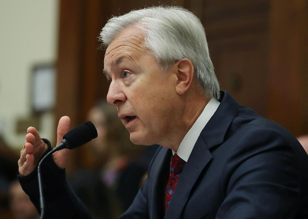 John Stumpf, Chairman and CEO of the Wells Fargo & Company, testifies before the House Financial Services Committee September 29, 2016 in Washington, DC (AFP Photo/Mark Wilson)