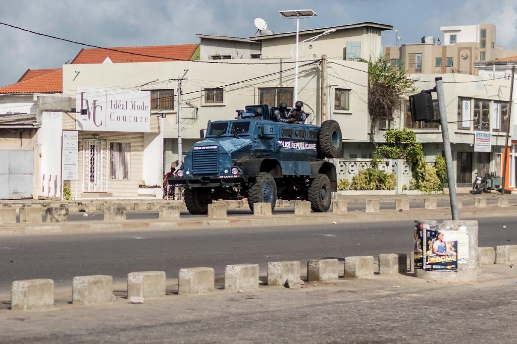 A witness said three people were killed when soldiers opened fire to disperse crowds protesting against elections that were held without an opposition candidate (AFP Photo/Yanick Folly)