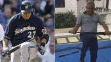 Carlos Gomez clearly did not learn bat-breaking from his dad