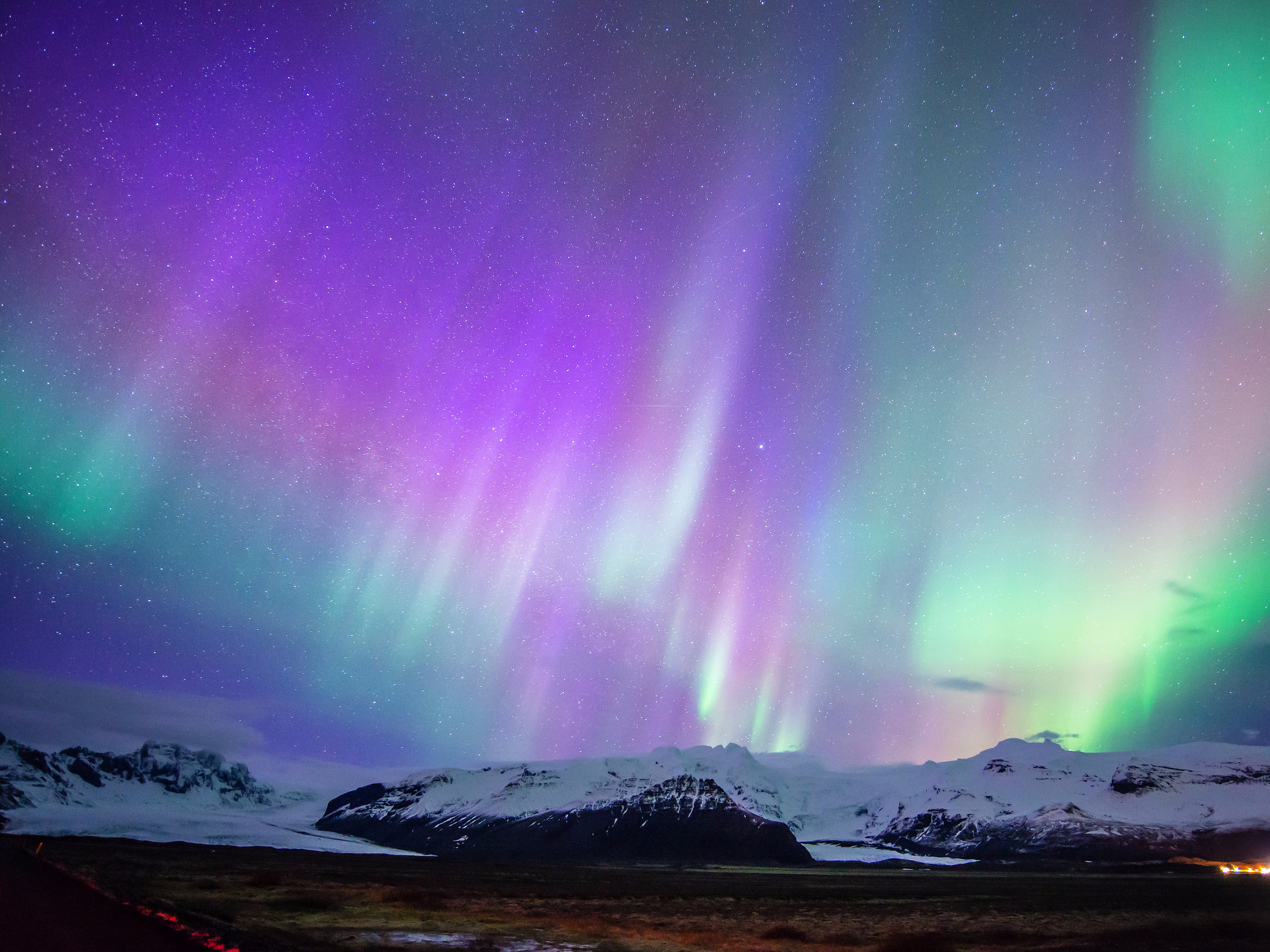 northern and southern lights